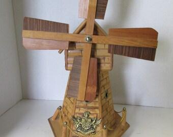 Vintage Music Box Windmill Bank