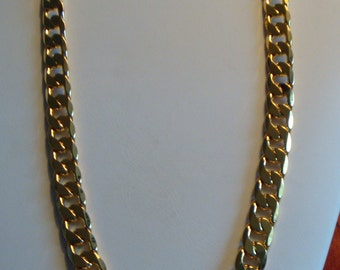 18k Gold Filled Chain Mens Necklace Mens Jewelry Yellow Gold Chain Mens Gold Chain Thick Chain Mens Gold Necklace Heavy Gold Chain