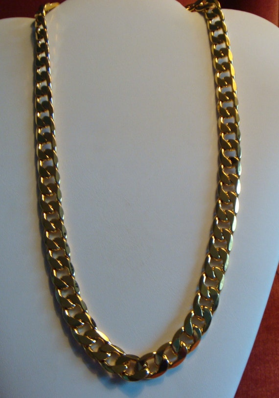 18k gold filled chain mens necklace mens jewelry yellow gold te gusta este artculo aloadofball Gallery