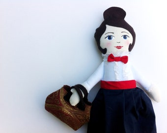 Mary Poppins Doll, cloth doll, rag doll