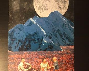 Lunar Day original handmade collage