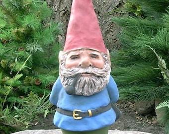 "SALE! Willard 14"" Hedgerow Garden Gnome Blue w/ Pipe R81B"