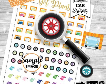 Car Planner Stickers, Printable Car Stickers, Car Wash Stickers, Car Maintenance Stickers, Agenda Planning Stickers