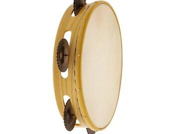 Dyed Ash tambourine