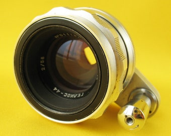 Lens HELIOS 44 SILVER 2/58 USSR Russian lens for Start camera bayonet # 0111673