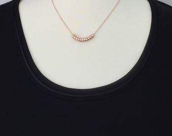 Southern Belles Rodanthe Rose Gold Necklace, 14k Rose Gold Filled