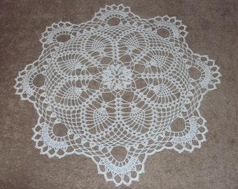 Round doily, handmade with crochet, diameter 48 cm