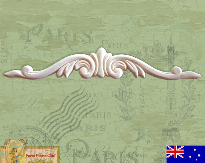 Shabby Chic French Furniture Applique Decoration Shabby French Chic Furniture Moulding Decoration Onlay ~ Farm House Chic ~ #0026-R