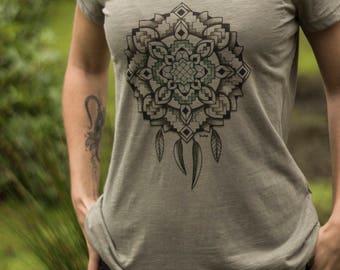 Organic Dream Weaver Females Scoop Neck T-shirt - Light Khaki