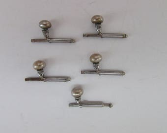 Shirt Studs, Antique, Five Shirt Stud Buttons, Vintage Buttons, Antique Buttons, Buttons, Collectible Buttons, Accessories