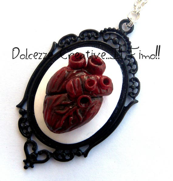 Cameo necklace Anatomy of the heart Anatomy anatomical