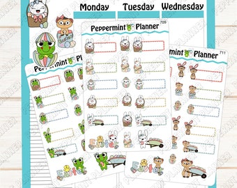 Jelly B, Widget, or Lilly Pad Easter Planner Stickers --- 709 - 711