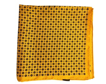 Silk Pocket Square / Pocket Handkerchief / Yello Handkerchief / Mens Handkerchiefs Men Hanky / Silk Handkerchief