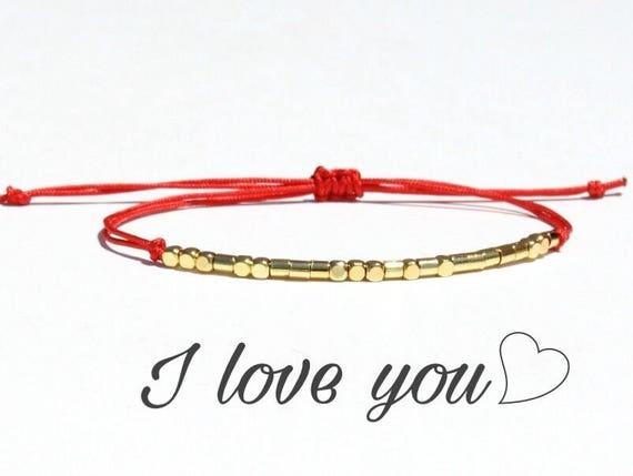 bracelet i love you morse