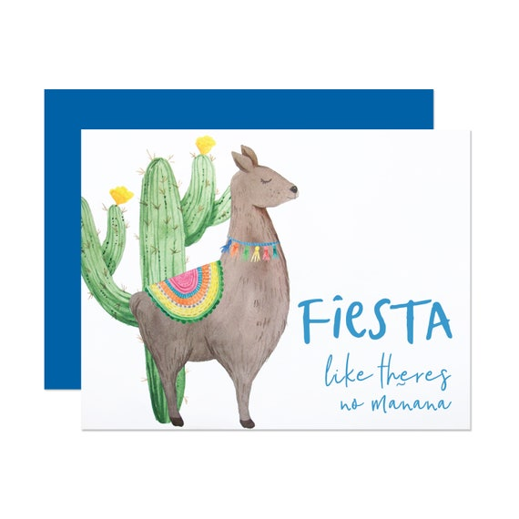 Fiesta Like There's No Mañana - Birthday Card