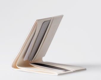 Minimalist Super-Thin Washable Paper Bi-Fold Wallet in Riambel White / Vegan Wallet / Thin Bifold / Paper Wallet / Mens Wallet