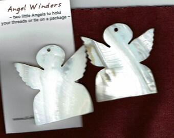 Beautiful Mother of Pearl Angel Thread Winders (2 per package)