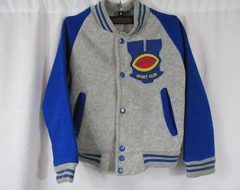 80s 90s Shiny Bomber Souvenir Jacket Raver Club Kid Sports Athletic Jacket Size L pIIHmz1Nu