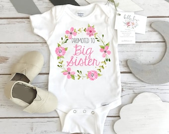 Big Sister Shirt, Promoted to Big Sister, Big Sister Onesie®, Pregnancy Reveal, Baby Announcement, Big Sister To Be, Big Sister Reveal Shirt
