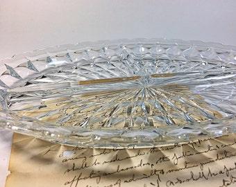 Vintage Windsor Divided Glass Relish Tray Depression Glass Jeannette