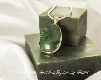 Handmade Alaska Jade Oval Pendant