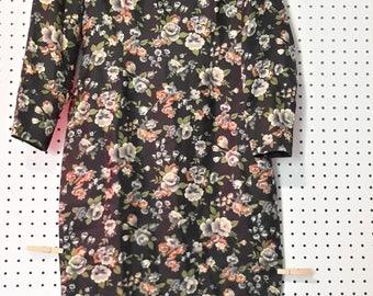 "Vintage 70""s Cheongsam Floral Dress"
