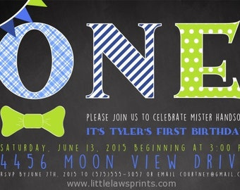 Mister Handsome Bow Tie Invitation