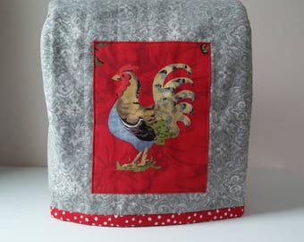 Quilted Mixer Cover, KitchenAid Artisan 5 QT Tilt-Head Stand Mixer Cover, Rooster Theme Dust Cover,  Handmade Mixer Dust Cover, Farmhouse
