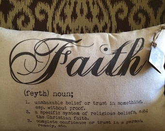 Faith Pillow/Holliday/Christmas