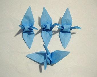 "100 3"" Medium blue origami paper cranes wedding party decoration"
