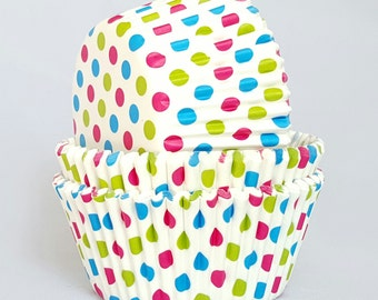 High Quality White Polkadot Standard Size Cupcake Cases Cupcake Liners