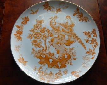 French Country Plate with Bird and Foliage Motif!