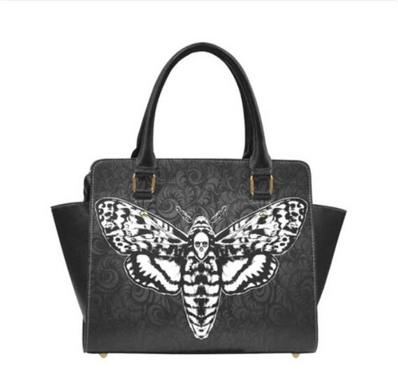 Death Head Moth Shoulder Handbag