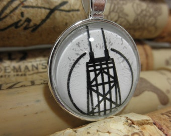 Sears Tower Necklace, Sears Tower Jewelry, Chicago Sears Tower, Sears Tower, Willis Tower, Chicago Willis Tower