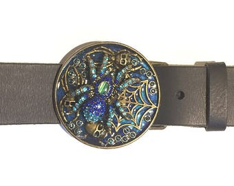 The Jeweled Spider Buckle and Belt Strap