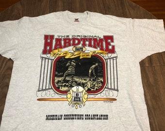 vintage hard time cafe michigan corrections organization xl gray t shirt 90s