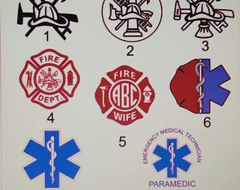 Fire and EMS Decal, Yeti Decal, Car Window Decal, Personalized Decal, Laptop Decal, Tablet Decal