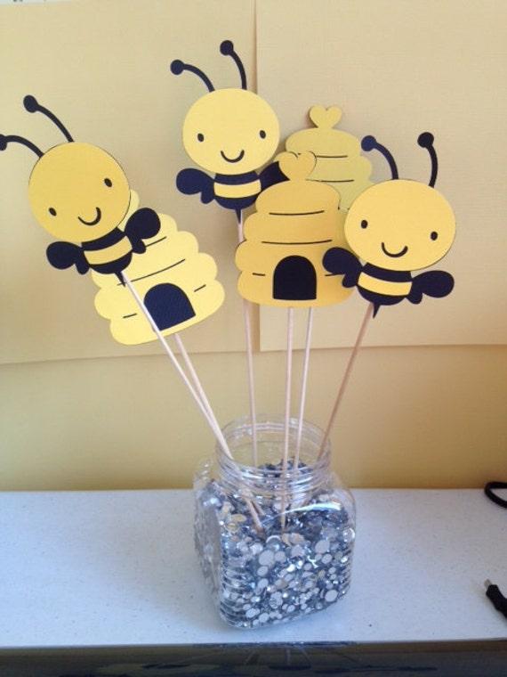 6 Piece Bumble Bee Centerpiece Sticks Birthday Baby