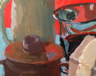 Art and Collectibles, Original Still Life, acrylic painting, 5x7 art, fine art and collectibles, modern impressionist, wall candy, artonetsy