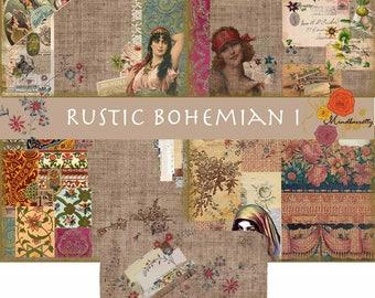 Rustic Bohemian I (Digital paper)