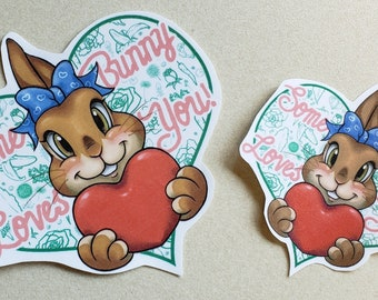 Some Bunny Loves You Sticker
