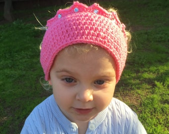 Princess Crown Ear Warmer/ Headband - Any Color - Any Size - All Sizes