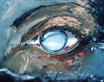 Blind Eye, Original Oil Painting, Handmade, Fine Art, Free Shipping