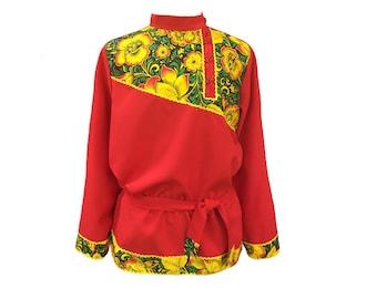 Russian shirt Kosovorotka, quadrille dance costume Russian clothing, Russian costume Slavic traditional shirt, dance folk clothes Russia men