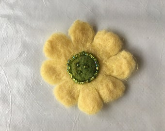 Baby Yellow Daisy Flower Brooch