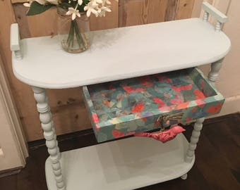 Up cycled Side Table in Duck Egg Blue