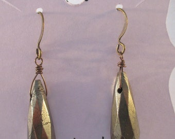 Pyrite Briolette Earrings E113179