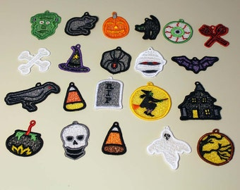 Halloween Lace Charms - set of 21