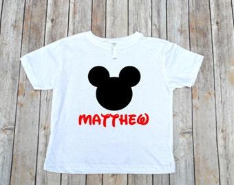 Mickey Inspired Disney Shirt for Boys Disney Family Shirts  Mickey Shirt Boys Mickey Shirt Mickey Onesie