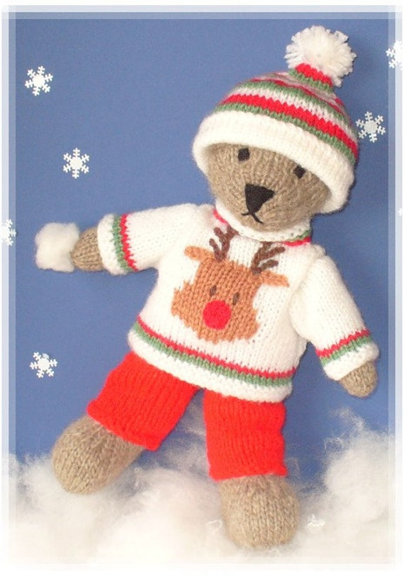 winter teddy bear with christmas sweater clothes pdf email. Black Bedroom Furniture Sets. Home Design Ideas